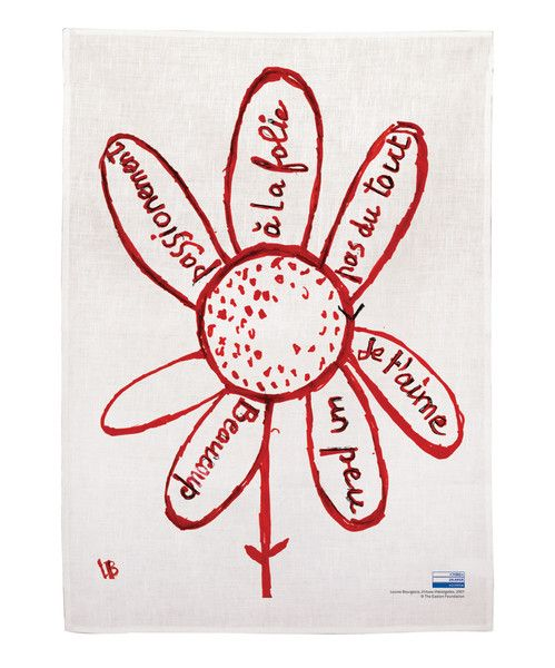 Virtues theologales by Louise Bourgeois. Linen tea towel $40   Third Drawer Down