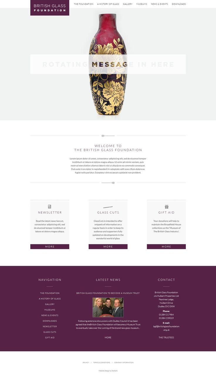 Design Visual for The British Glass Foundation