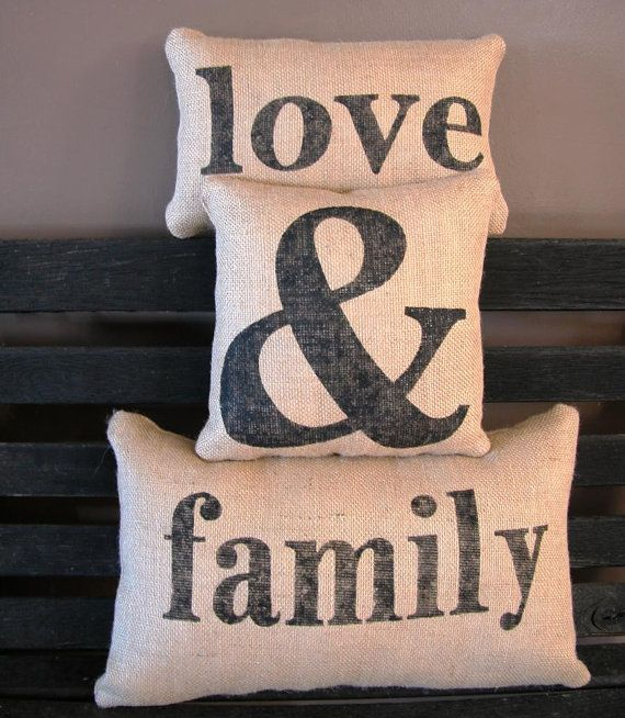 Burlap Pillows....I just bought similar pillows:)