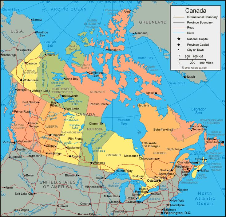 Best ECC Medical School In The US And Canada Images On - Us canada political map
