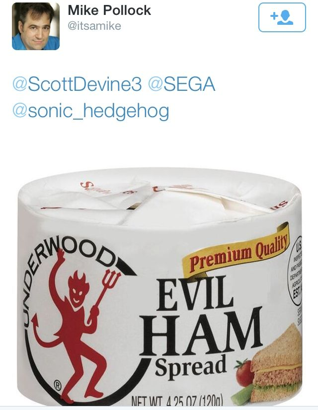 """Did you guys know that there is really such a thing as """"evil ham""""? XD (If you don't know what I'm talking about, watch the newest Sonic Boom trailer)"""
