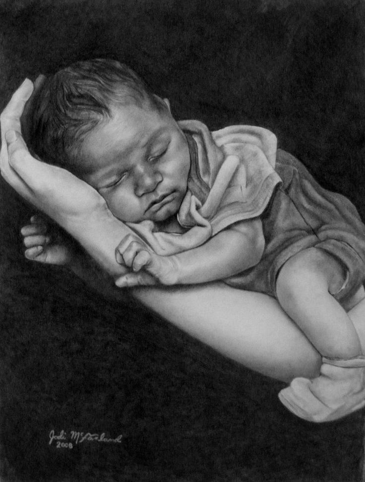 Image result for stock paintings and drawings of newborn baby