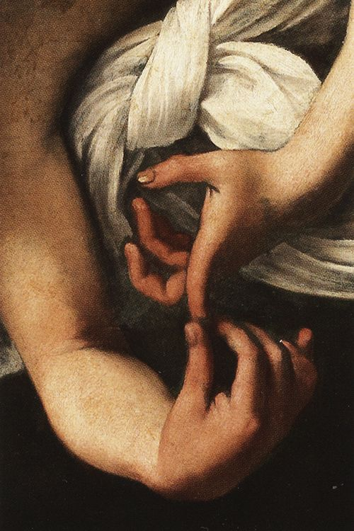 Caravaggio, Saint Matthew and the Angel (second version; detail), 1602