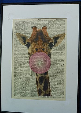 Giraffe Wall Print No.334 giraffe art giraffe by DecorisDesigns