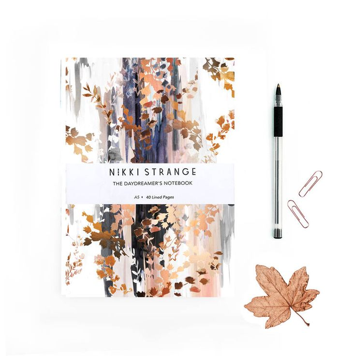 Autumn Leaves A5 Notebook With Lined Pages