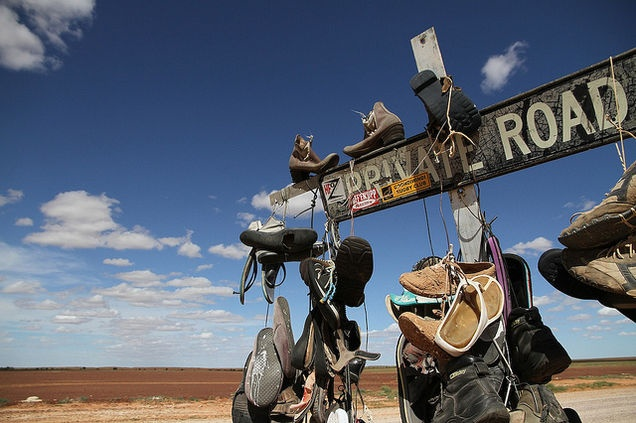 Shoe tree - on the way from Bedourie to Birdsville