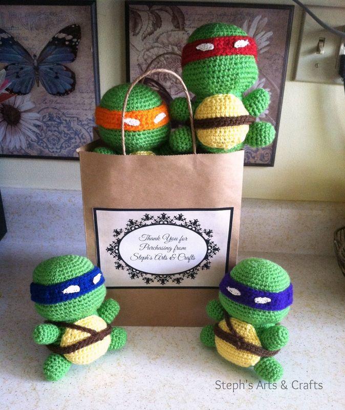 Ninja Turtle Amigurumi Pattern! These are so fun!