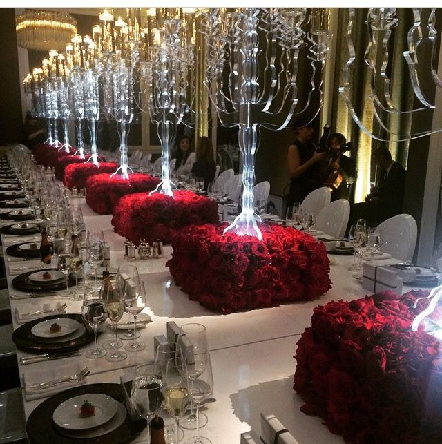 Roses r red  Glamour N Luxury Wedding Centerpieces in