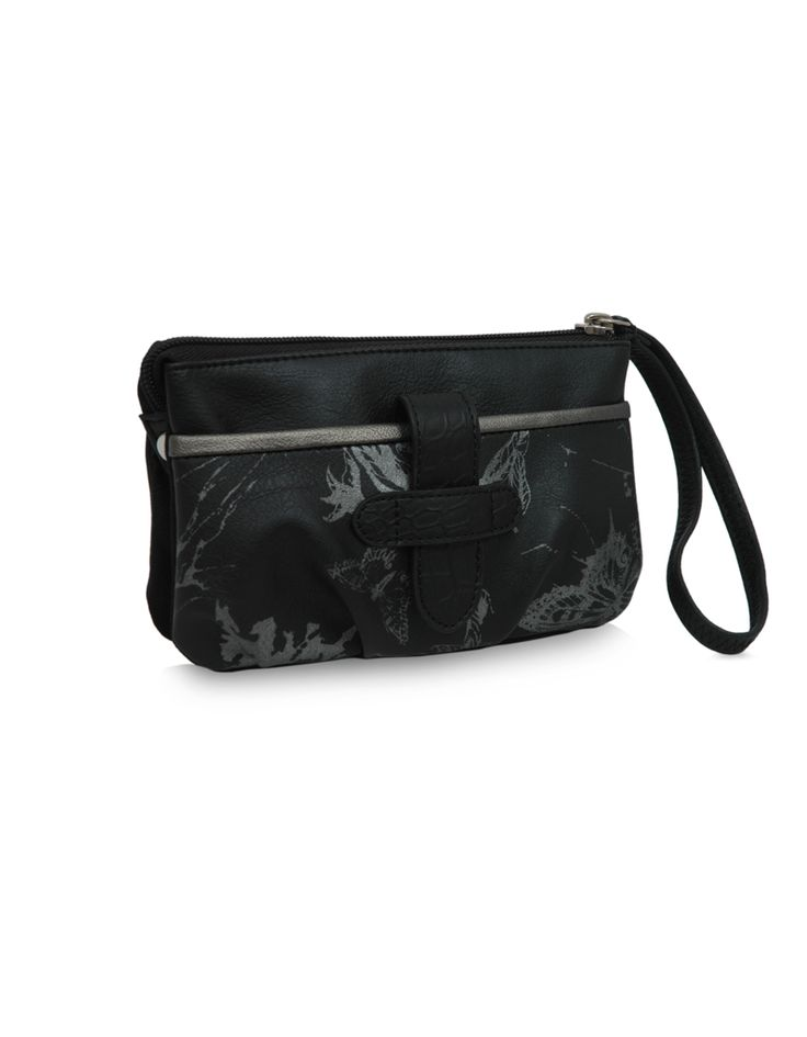 MP Soar Lisa Black : A spacious black multi pocket pouch by Baggit.