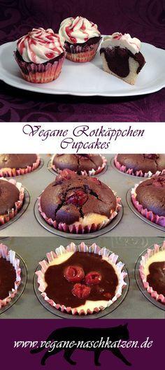 Vegane Rotkäppchen Cupcakes ♥ Die Rotkäppchen Torte war damals die allererste Torte, die Mama veganisiert hat. Und dementsprechend auch die erste vegane Torte, die ich je gegessen habe. Daher habe ich mir zum Valentinstag für Mama etwas besonderes ausgedacht: Ihre Torte als Rotkäppchen Cupcakes ♥