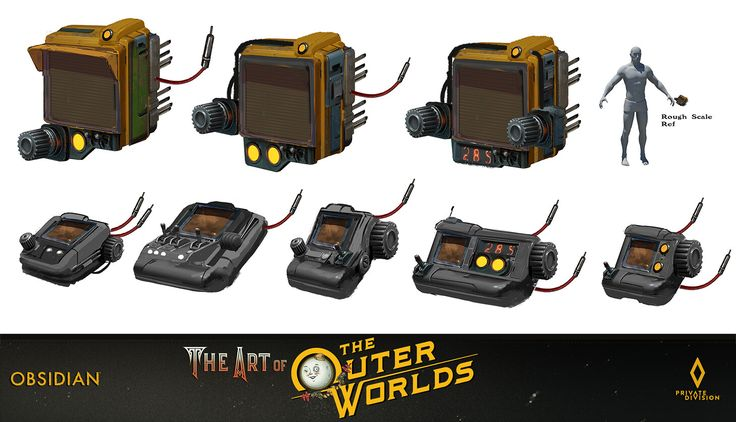 Artstation the outer worlds tech gadget props bobby