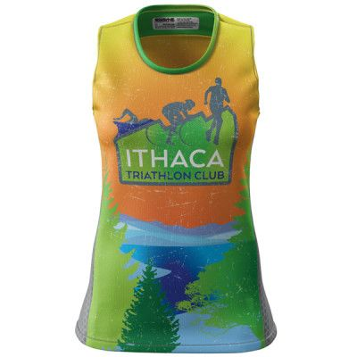 Ithaca Triathlon Club Womens Grind Singlet | Made in the USA from 100% Recycled Polyester | Atayne Performance Apparel