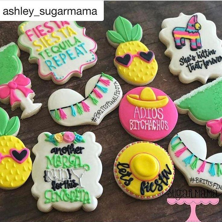 Fiesta Bachelorette Sugar Cookies