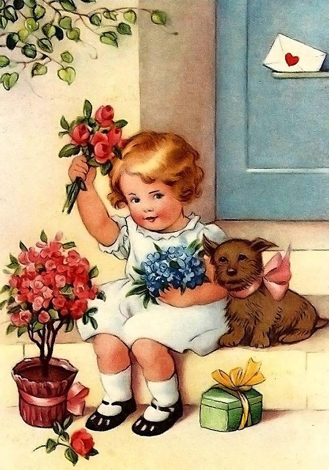 Открытки, открытка дети поздравляют