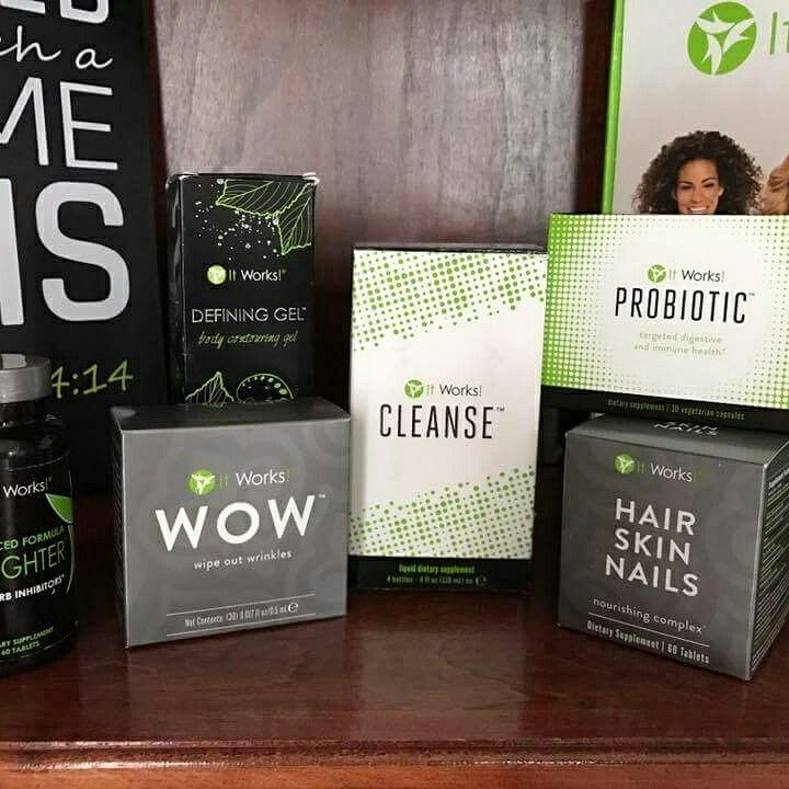 Have you been wanting to try a product before you become a customer?  And not pay retail? Now is your chance! These are just a few of my fave's...  Defining gel-$50 Cleanse-$45 Fat fighters-$30 Probiotic-$40 Wow-$55 HAir skin nails-$40  Message me or text 850-207-6525 ASAP! I only have a limited supply!  Check out all of the Amazing products from IT WORKS at www.hayliewraps16.itworks.com