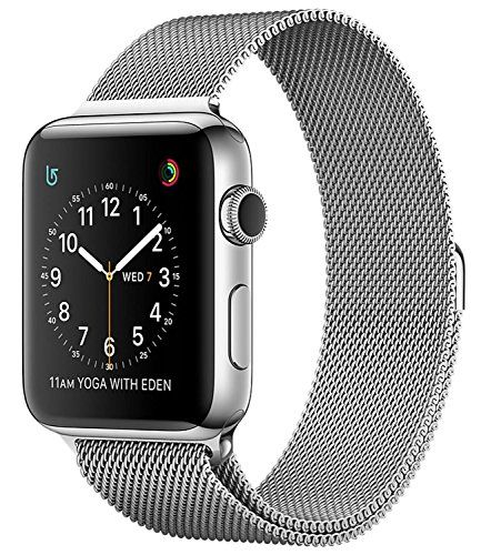 Apple Watch Series 2 42mm Smartwatch ( Stainless Steel Case, Milanese Loop Band)   Stay connected in style with the 42mm Apple Watch Series 2, which comes with a stainless steel chassis and a Milanese Loop stainless steel band. Designed fo
