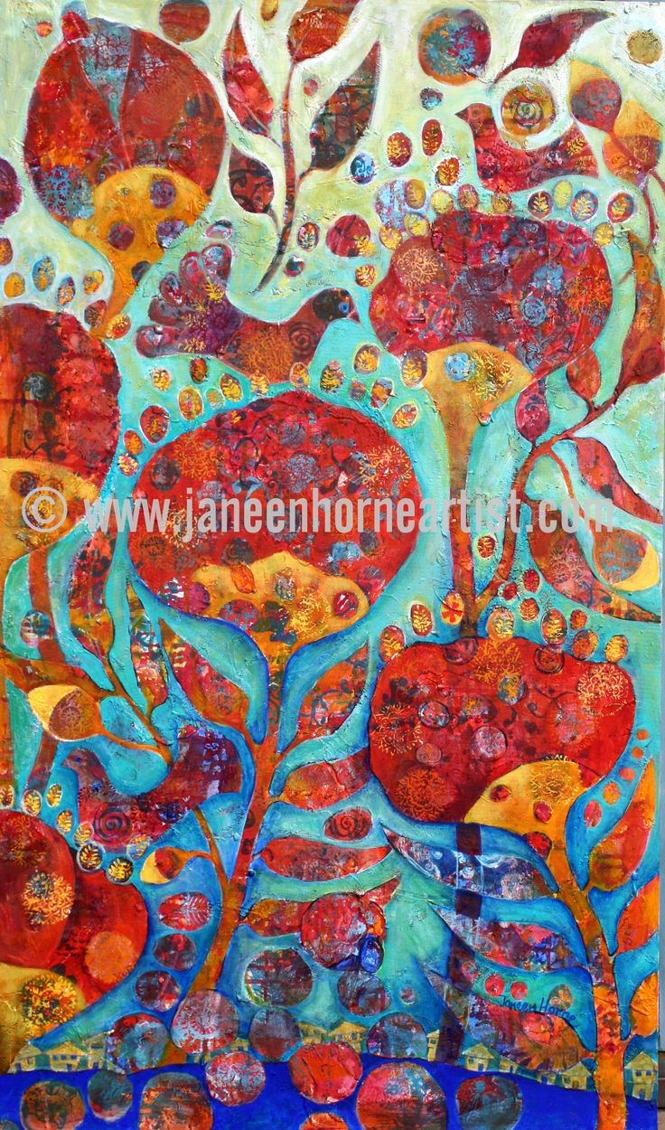 Up with the Birds - Acrylic on canvas - Giclee print and gift card - www.janeenhorneartist.om