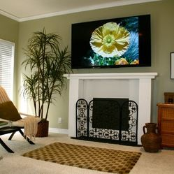 mounted tv