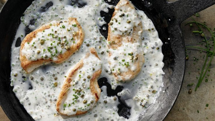 Fixe Pfanne à la Bistroküche: Puten-Pfeffersteak – smarter in feiner Rahmsauce   http://eatsmarter.de/rezepte/puten-pfeffersteak-smarter