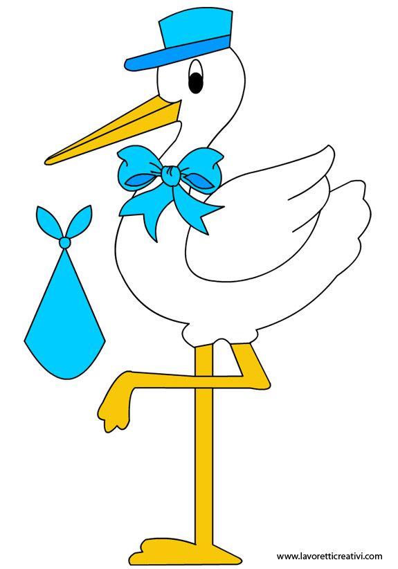 SAGOME PER NASCITA BAMBINI Sagome utili per realizzare, in occasione della nascita di una bambina o di un bambino, una cicogna da giardino in compensato di