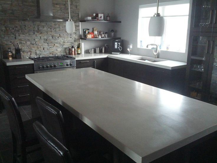 Comptoir de cuisine lot couleur greige la cuisine La cuisine de comptoir