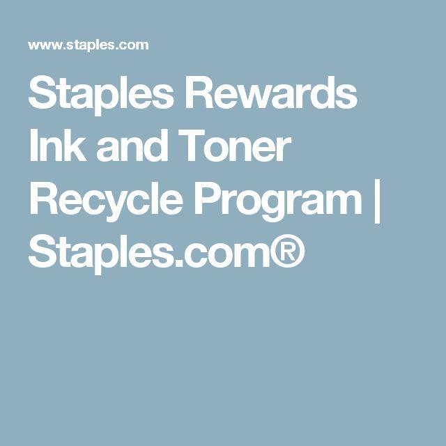Staples Rewards Ink and Toner Recycle Program   Staples.com®