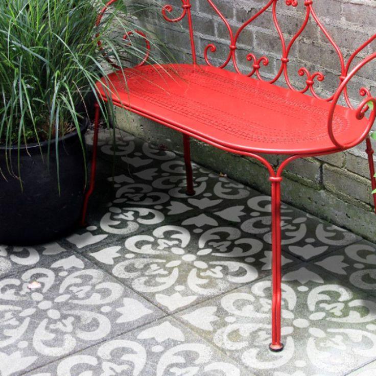 Home Decor DIY Stencils   Wall Stencils   Furniture Stencils   Moroccan  Stencils   Mediterranean Tile