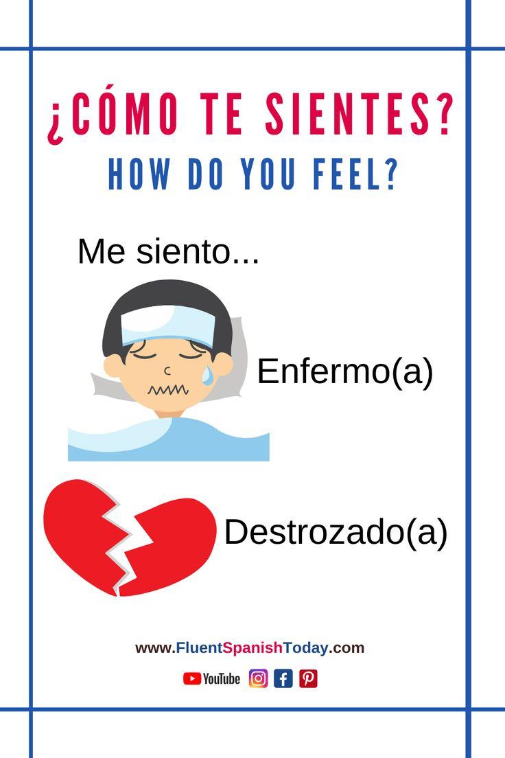 feelings Spanish vocabulary beginners in 2020 Spanish