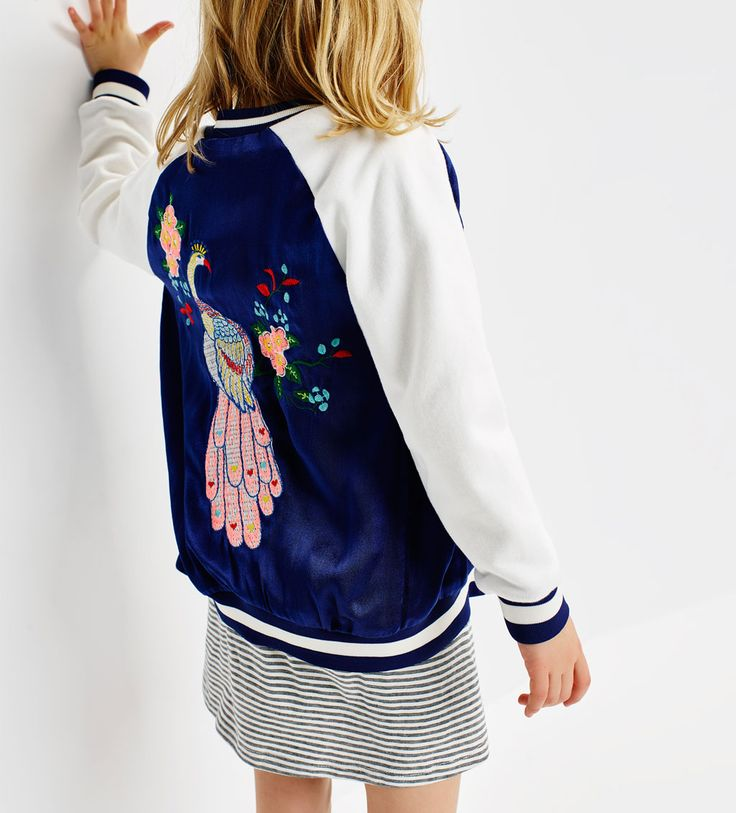 Embroidered bomber jacket-GIRLS / THE SPRING REPORT-EDITORIALS | ZARA China