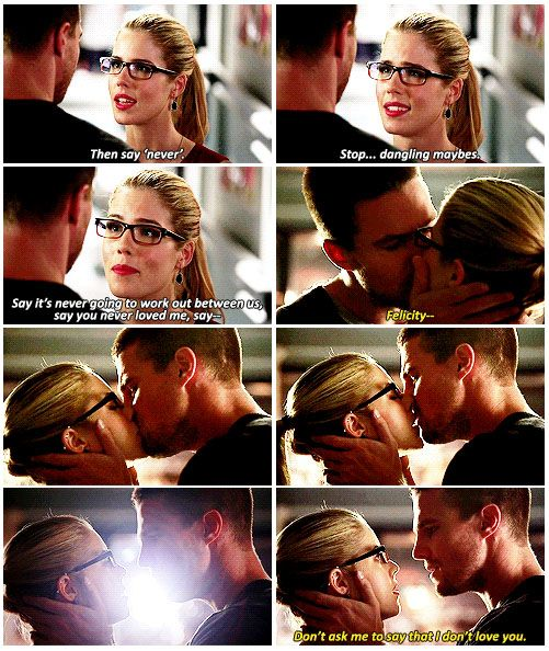Arrow - Oliver & Felicity in The Calm. I will pin this a million times. olicity kiss