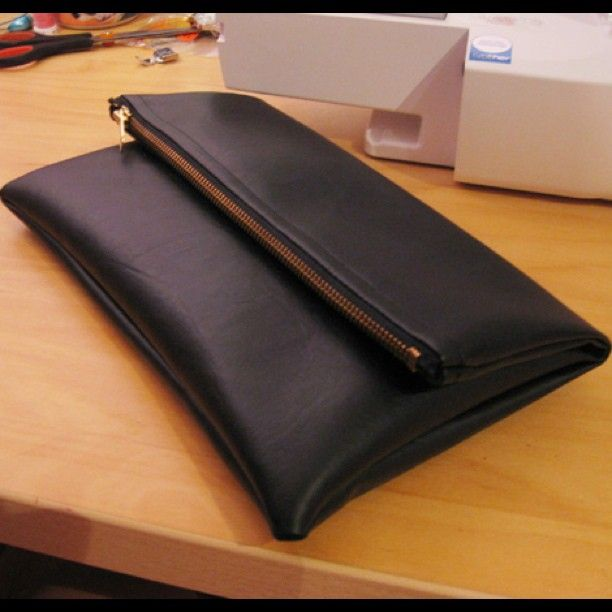DIY leather clutch/pouch