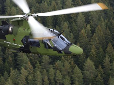 AgustaWestland A109 Helicopter of the Swedish Air Force