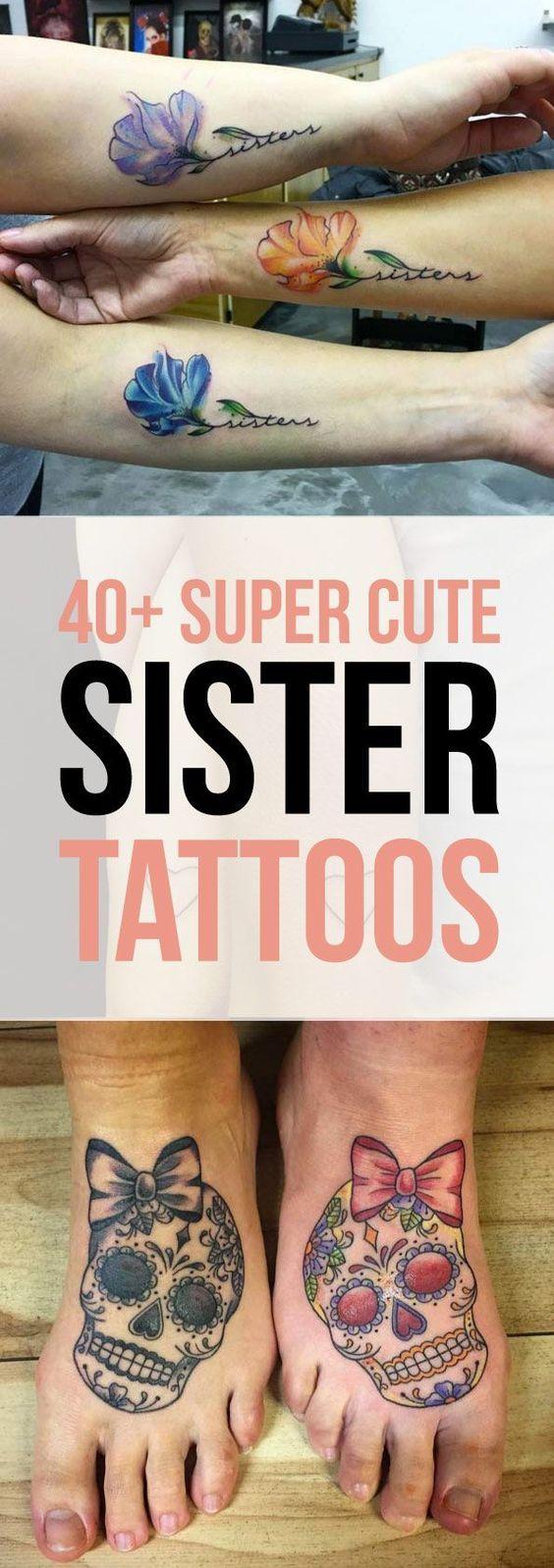 40 Super Cute Sister Tattoo Designs   TattooBlend