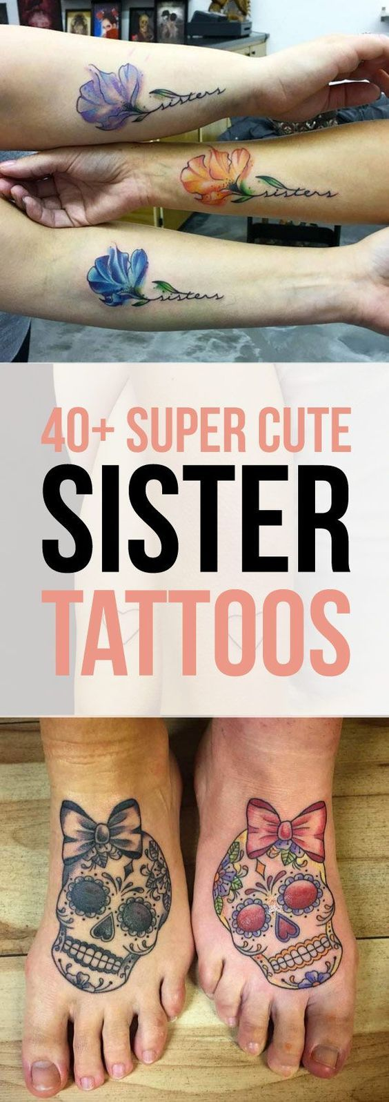 40 Super Cute Sister Tattoo Designs | TattooBlend