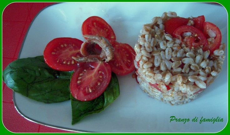 farro with tomatoes and anchovies