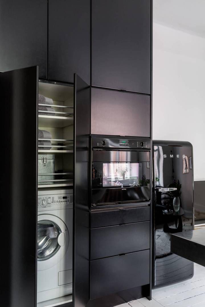 Las 25 mejores ideas sobre cocinas negras en pinterest for Ideas diseno cocina