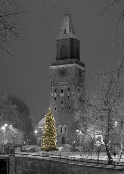 Travel Postcard - Christmas City - Cathedral, Turku, Finland