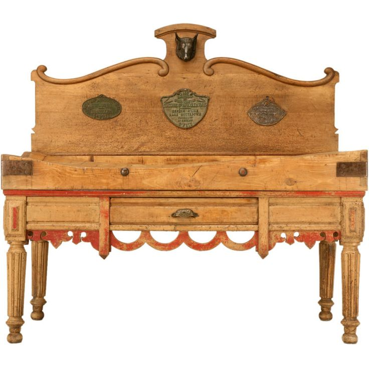C 1890 Authentic Original Antique French Butcher S Block