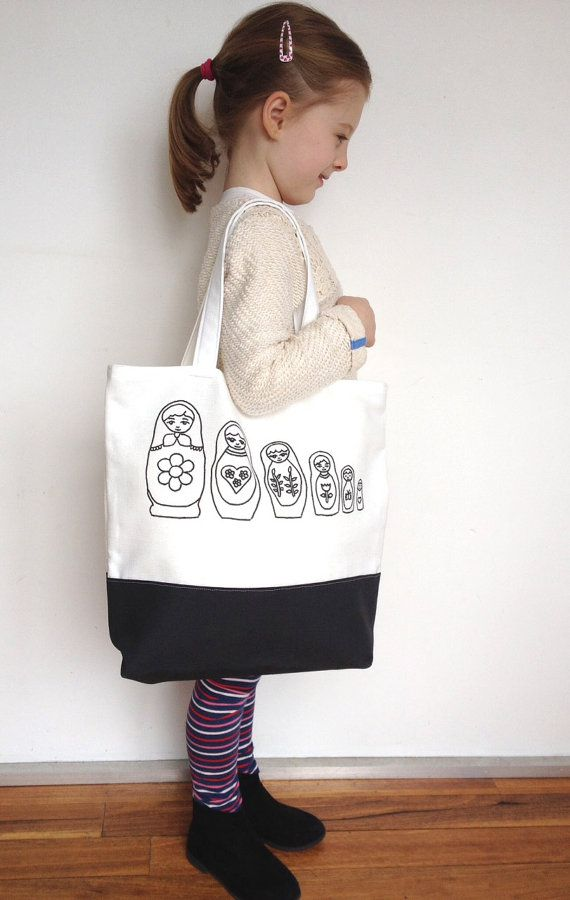 Colouring In BabushkaTote Bag by SimplyAddColour