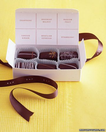 If making your own chocolate box then why not name the fillings on the lid.