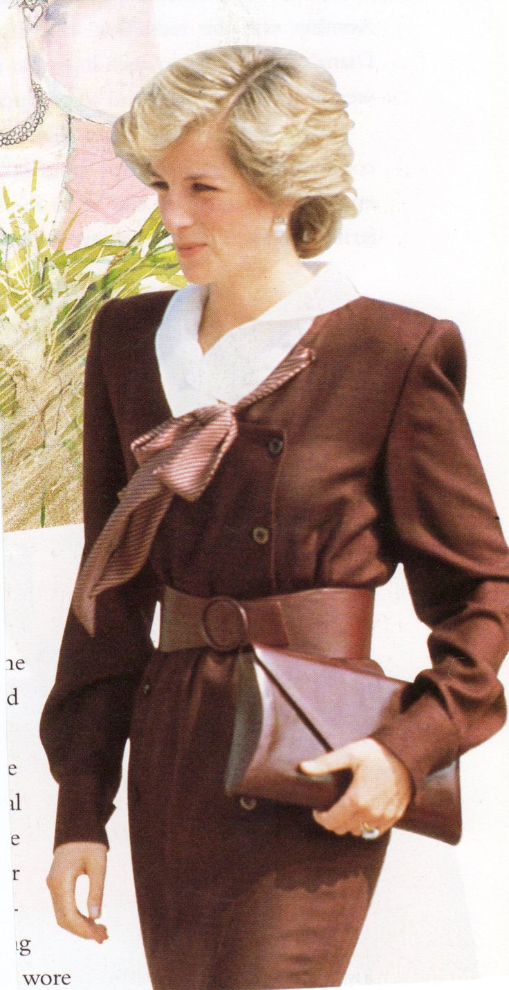 Date/info Updated: May 16, 1985: HRH The Princess Of Wales As President Of Dr . Barnardo's Visits A Branch Of The Organisation In Lineside Close, Liverpool On 16 May 1985. Princess Diana wore this outfit but with a hat, arriving for an Official visit of Cardigan, Wales, Oct 6th 1985.  Outfit Designed By Fashion Designer, Victor Edelstein.