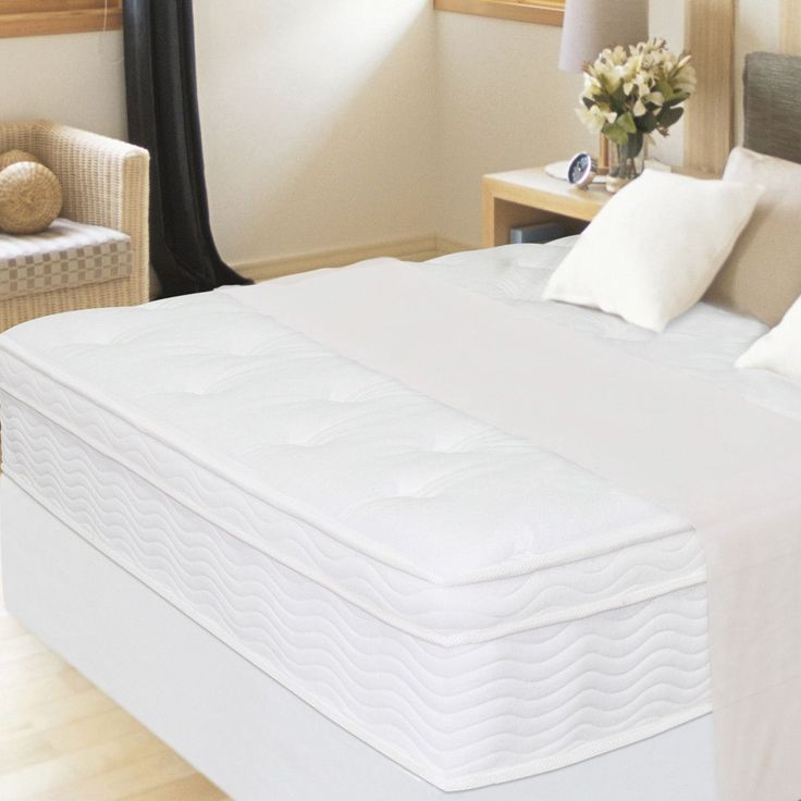 """13"""" Euro Box Top iCoil Mattress and Steel Foundation Set"""