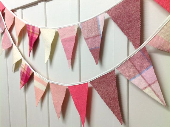 Recycled woollen blanket bunting ! (Gorgeously Girly)