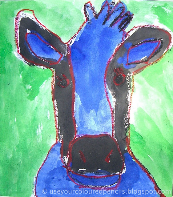 cow art..has step by step directions...farm