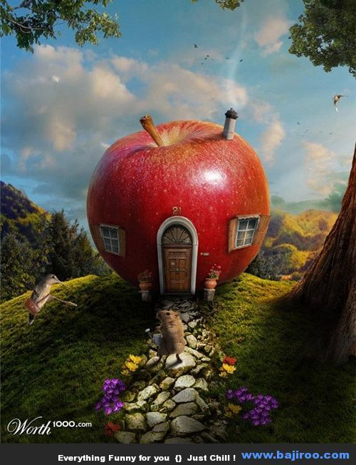 Funny house creative houses designs world fun images pics for Mansions around the world