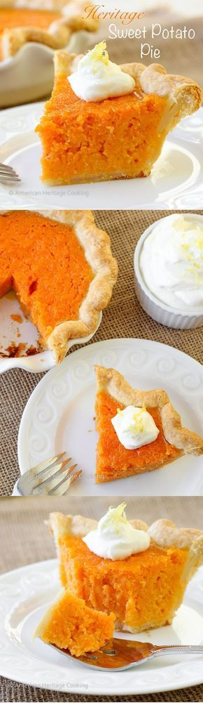 Move over pumpkin pie...Heirloom Sweet Potato Pie is here! | Try this pie for you next holiday gathering! - American Heritage Cooking