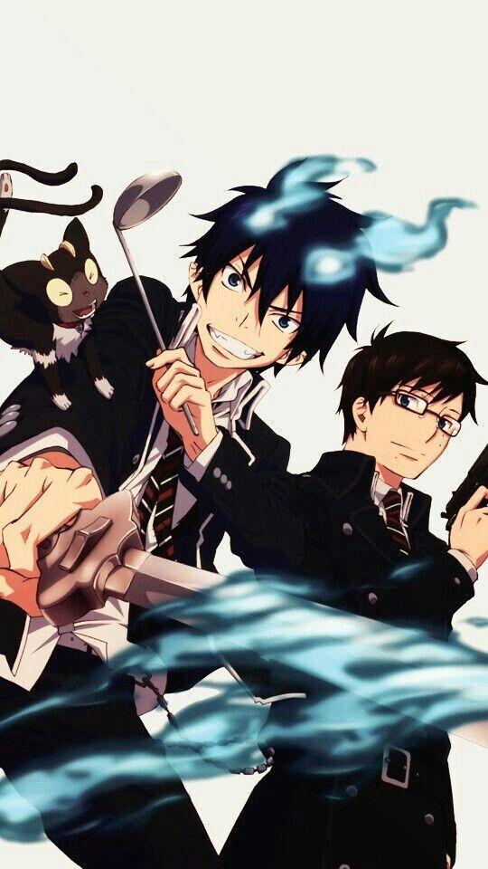 Rin, Yukio, cooking, blue flames, flames of Satan, Kurikara, Kuro, Okumura twins, brothers; Blue Exorcist