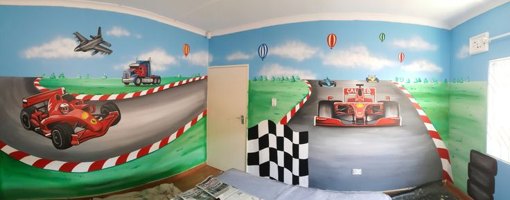 Car track mural by candice leth