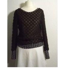 Pull de fée douceur laine fine légère  marron et motifs ethnique http://sanlivine.alittlemarket.com