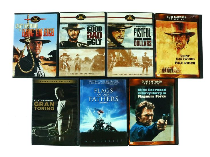 Clint EastWood Movies Western Action Producer Discs DVD Lot Of 7 Gran Torino